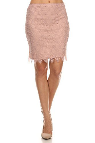 1864307a90 MeshMe Womens Chantel Blush Pink Lace Floral Patterned High Waist Short  Skirt * For more information, visit image link.