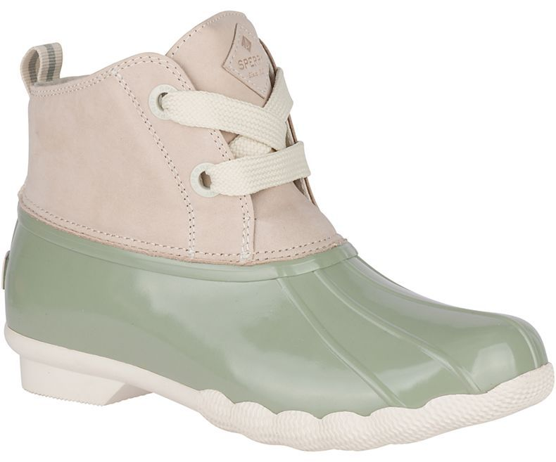 Seven Cute Pairs Of Rain Boots To Jazz Up Your Rainy Day Look Sperry Saltwater 2 Eye Nubuck Duck Boot In Cute Rain Boots Stylish Rain Boots Womens Duck Boots