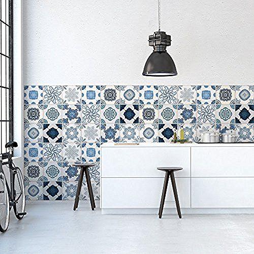 PS PVC Autocollants Carreaux Muraux Pour Salle De Bains Et - Stickers carrelage cuisine 15x15 pour idees de deco de cuisine