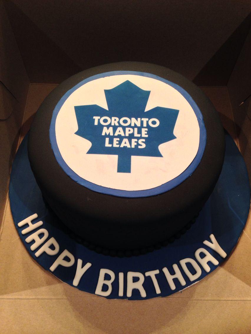 Toronto Maple Leafs Puck Cake Custom Cakes Pinterest Toronto