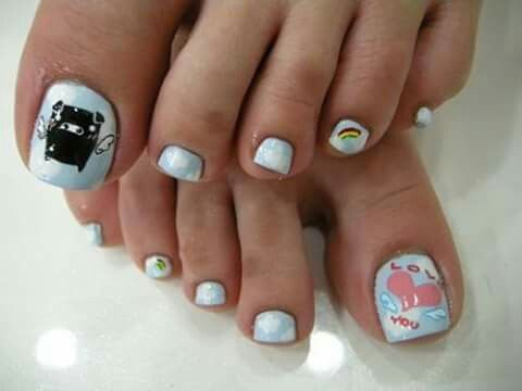 divertidas  cute toe nails toenail art designs easy toe