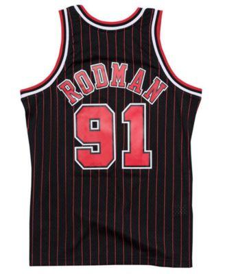 90f562e88b9 Mitchell & Ness Men's Dennis Rodman Chicago Bulls Hardwood Classic Swingman  Jersey - Black XXL