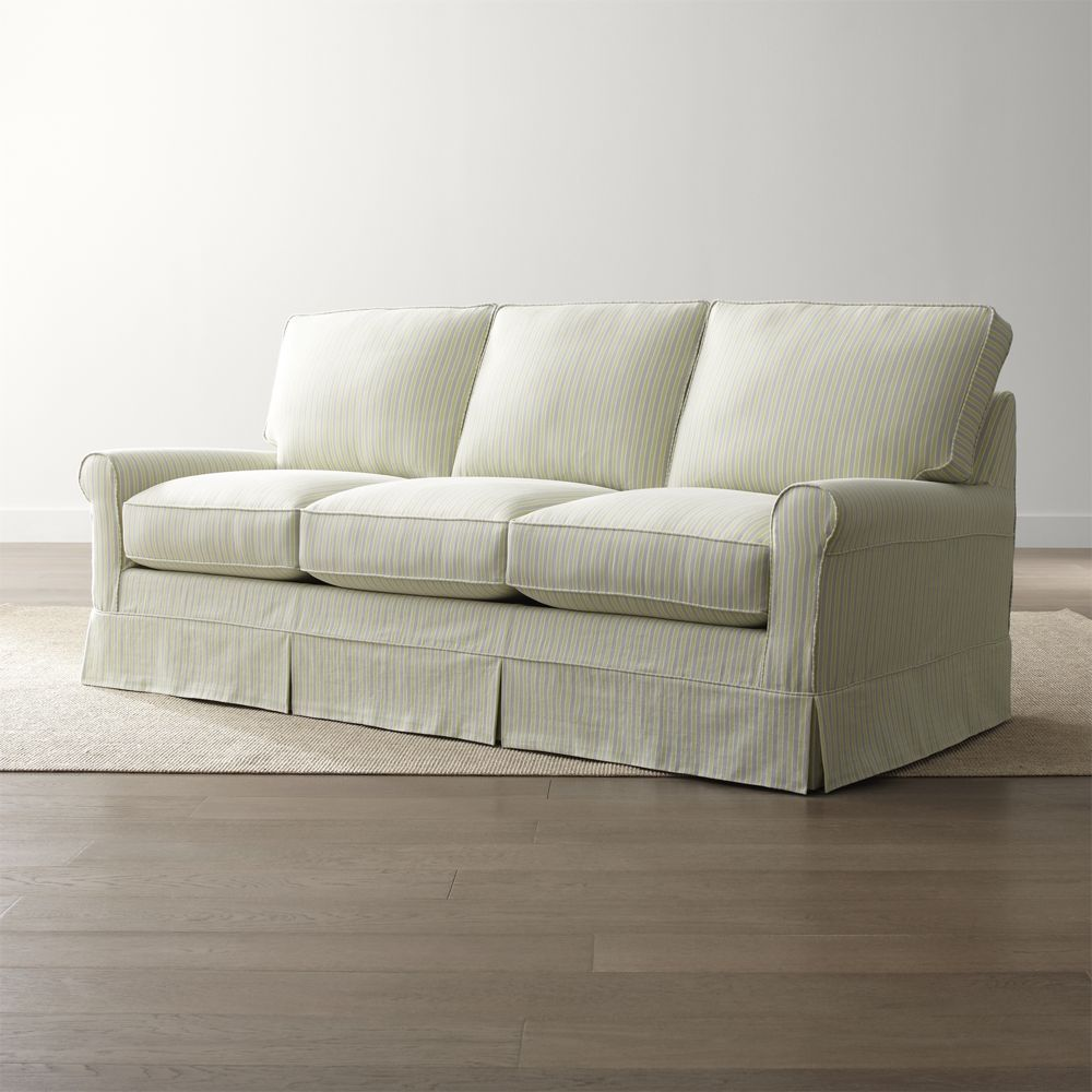 Slipcover Only For Harborside Queen Sleeper Sofa Crate And Barrel