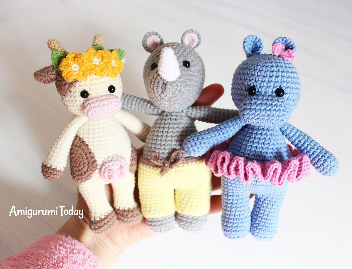 Amigurumi Free Patterns Bear : Cuddle me rhino amigurumi pattern amigurumi patterns cuddling and
