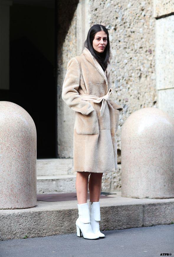 Milan Fashion Week Street Style Day 2-Gilda Ambrosio on #ATPB http://goo.gl/P0SvLt
