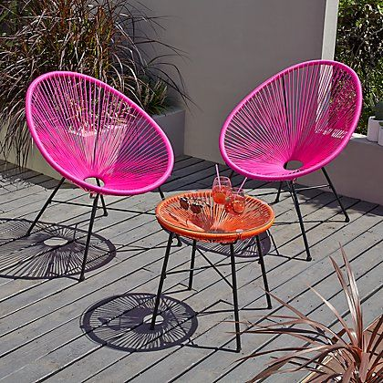 Superieur Camden 3 Piece Bistro Set   Pink And Orange | Home U0026 Garden | George At ASDA