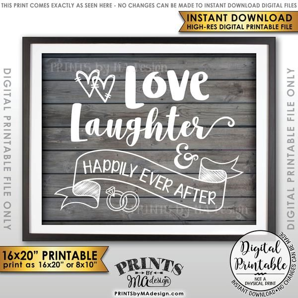 Pizza Wedding Reception Ideas: Love Laughter And Happily Ever After Wedding Sign