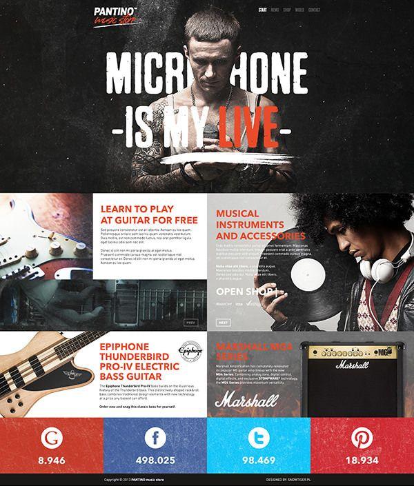 PANTINO - music store on Behance #webdesign #ui #design