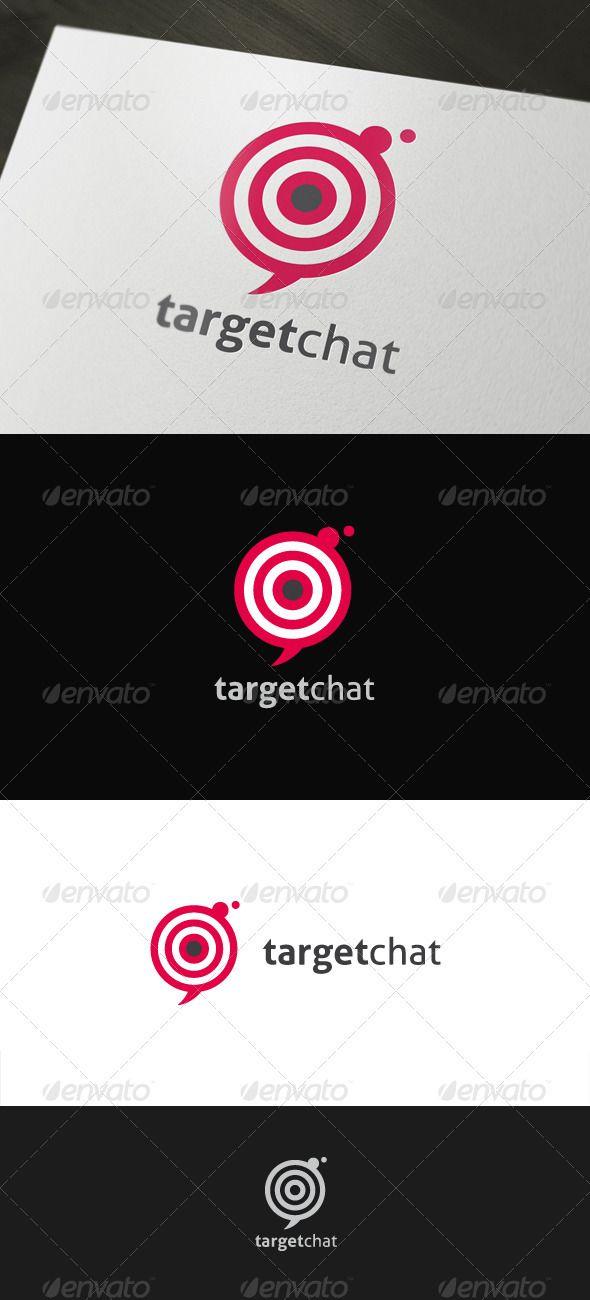 Target Chat Logo Templates Logos Chat Sites