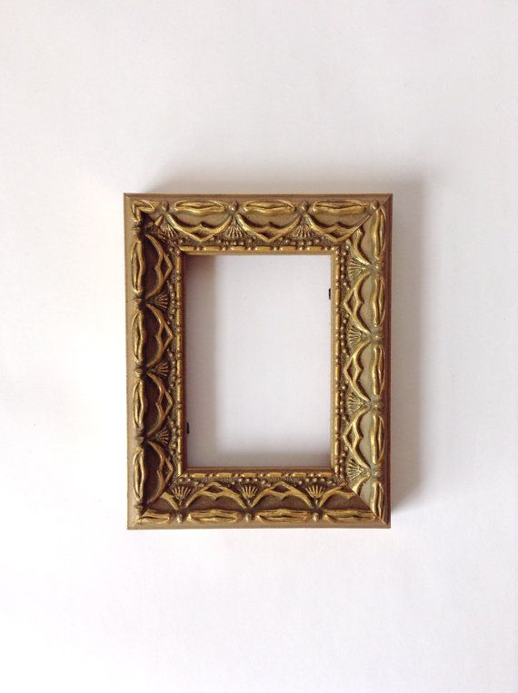 Tiny Ornate Frame - Small Gold Tone Painted Picture Frame - Adorable ...