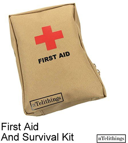 Survival First Aid Kit Fully Stocked With Emergency Medical Items Plus Tools Small Lightweight Portable Dis Mini First Aid Kit First Aid Kit Home Emergency Kit