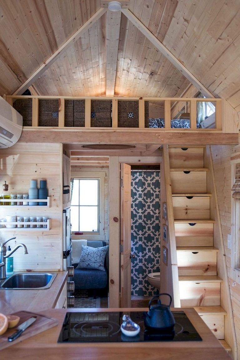 Awesome 21 Newest Small Loft Stair Ideas For Tiny House. More at