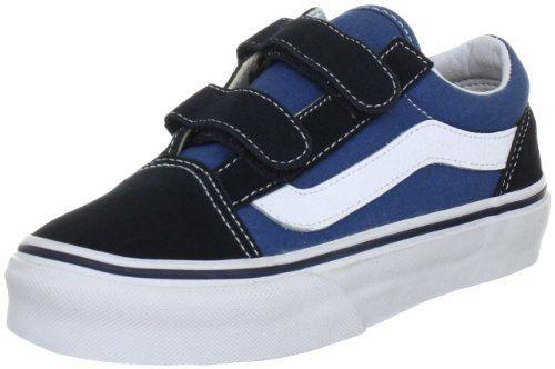 b746c42399 Vans Kids  Old Skool V Casual Shoe Black Navy (10.5) Vans.  40.00 ...