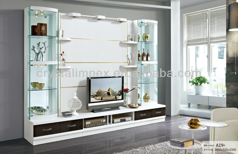 Led Stand Designs : Living room futnirue modern design tv stand view led