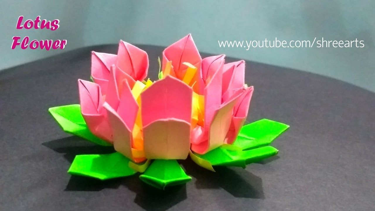 Easy Origami Lotus Flower How To Make Paper Lotus Flower Shree