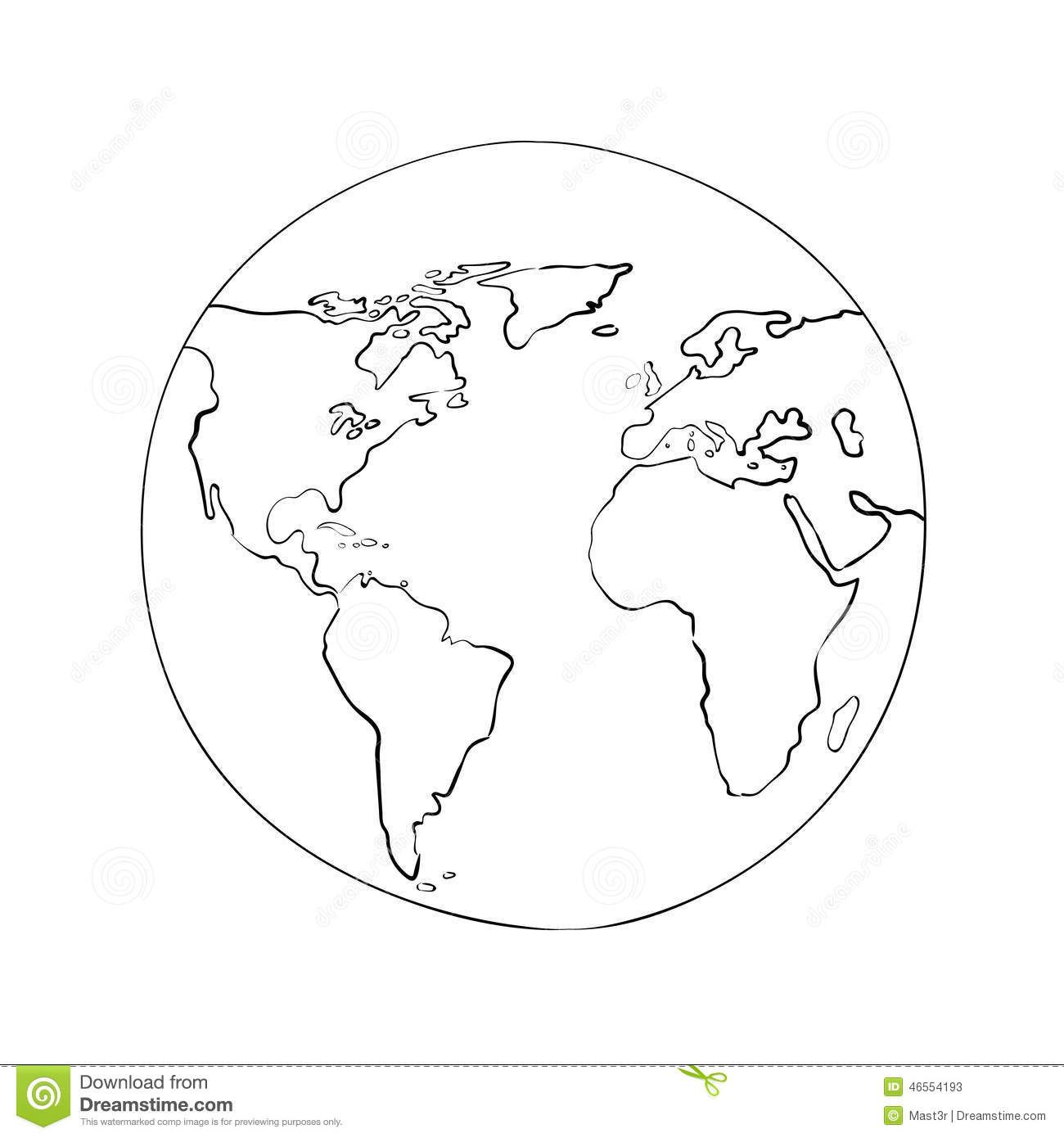 sketch globe world map black vector illustration download from over 49 million high quality stock photos images vectors sign up for free today