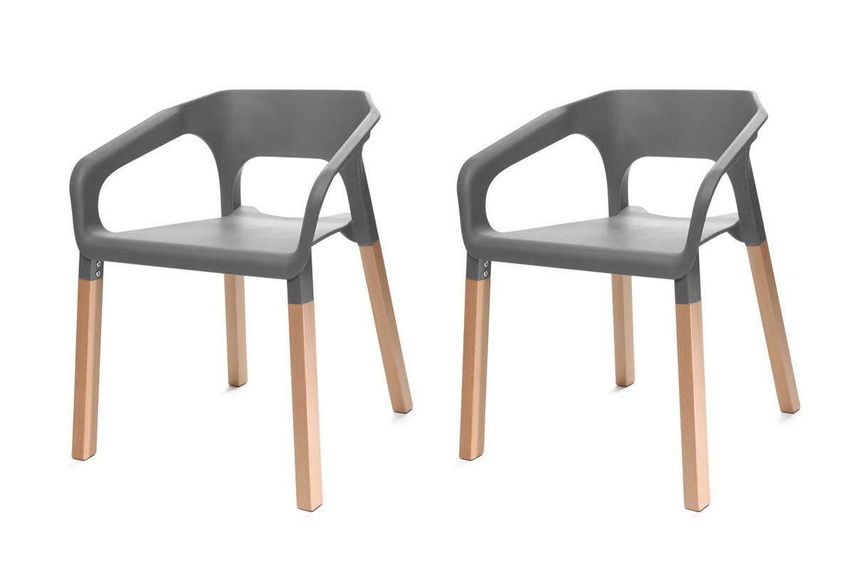 Sedie scandinave ~ Miliboo gruppo di due sedie design scandinave bianche helia