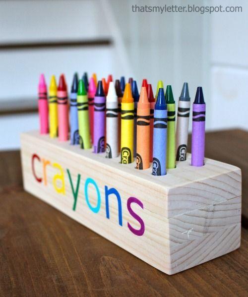Photo of Easy Scrap Wood Crayon or Pencil Block Holder
