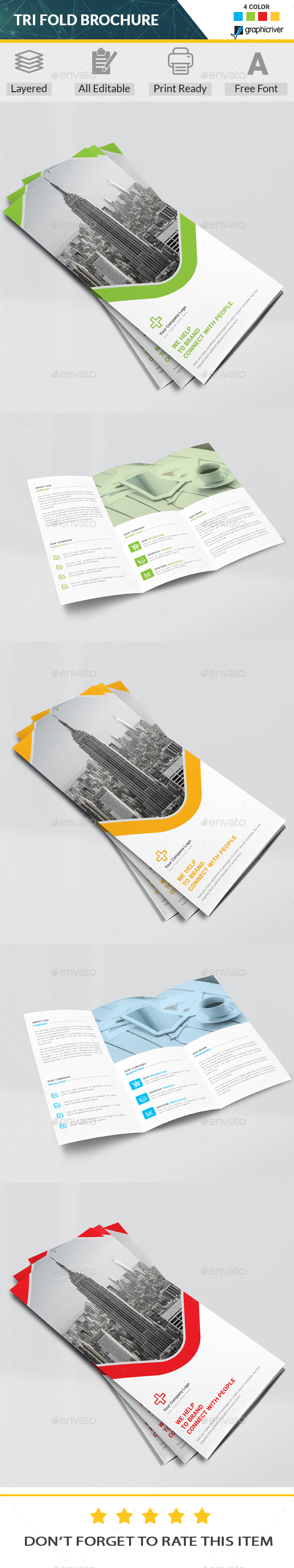 Tri Fold Brochure Template Psd Brochure Templates Pinterest