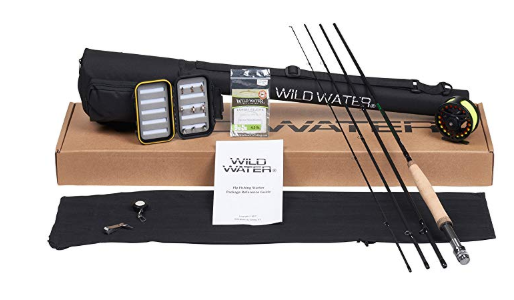 Wild Water Fly Fishing Rod And Reel Combo 4 Piece Fly Rod 5 6 9 Complete Starter Package Best Gift For Husband Fly Fishing Kit Gifts For Husband