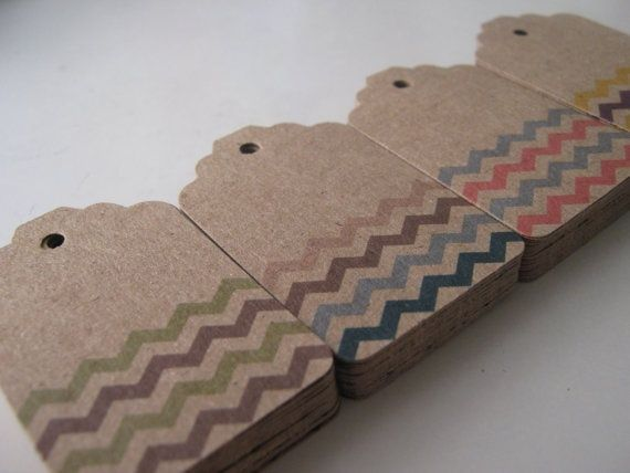 Chevrons craft tags