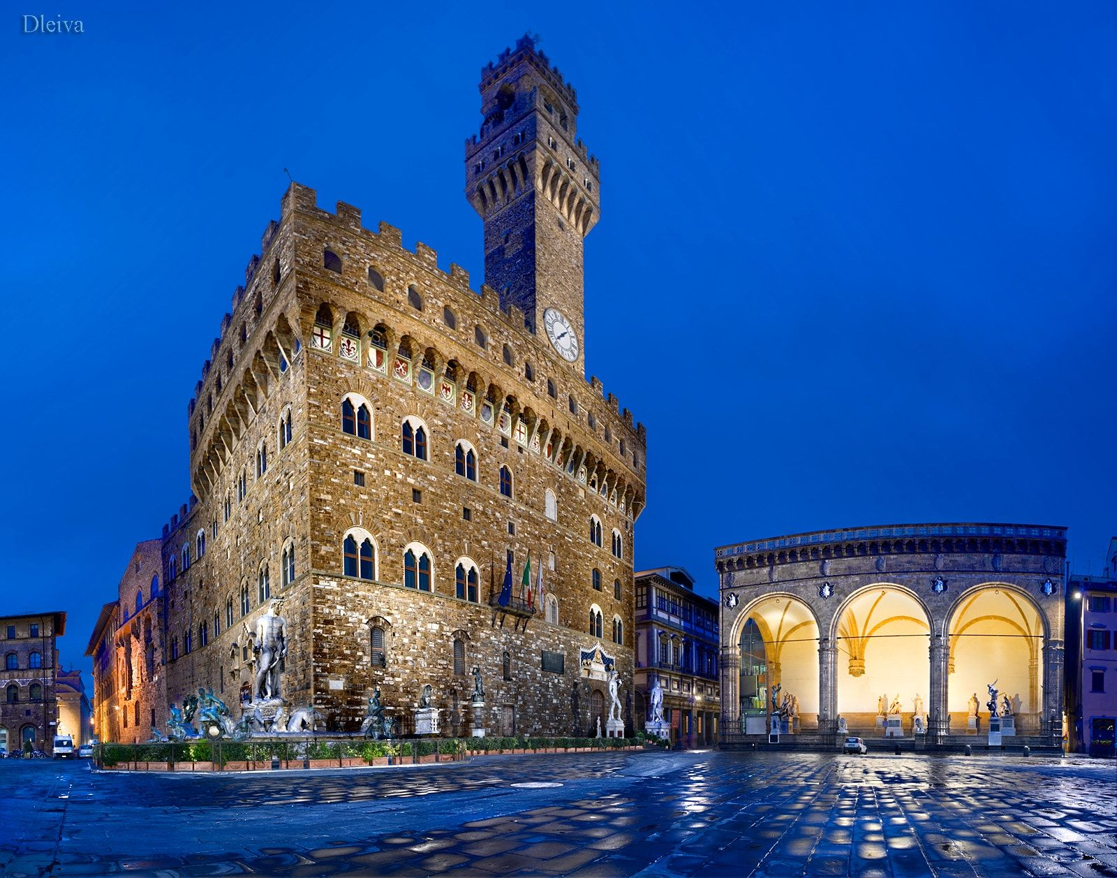 "Piazza Della Signoria,Palazzo Vecchio,Uffizi Museu - <a href=""http://www.flickr.com/photos/dleiva/sets/72157622555431937/show/"">to see my set Tuscany, Click here</a>"