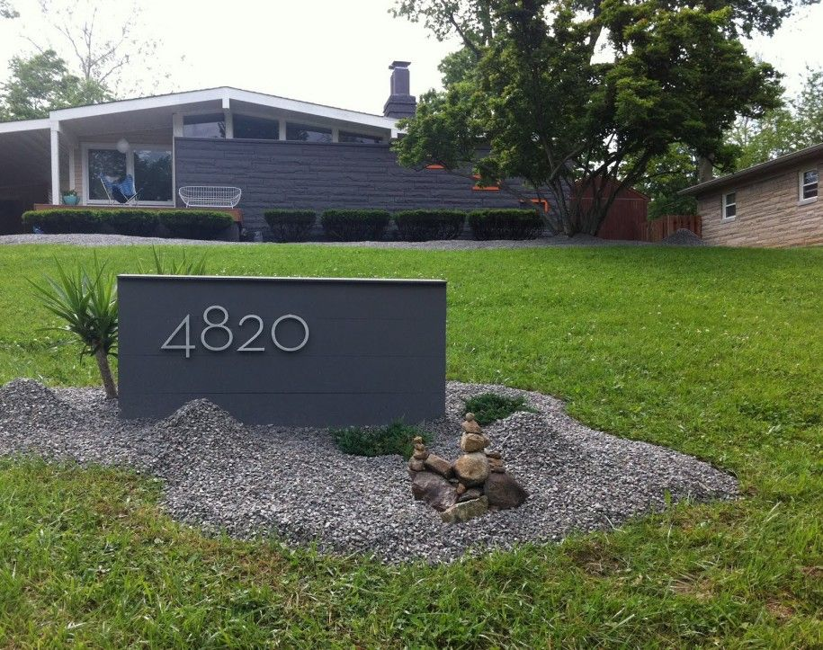 exterior captivating-mid-century-modern-landscaping-with-mid-century-modern-mailbox-design-ideas