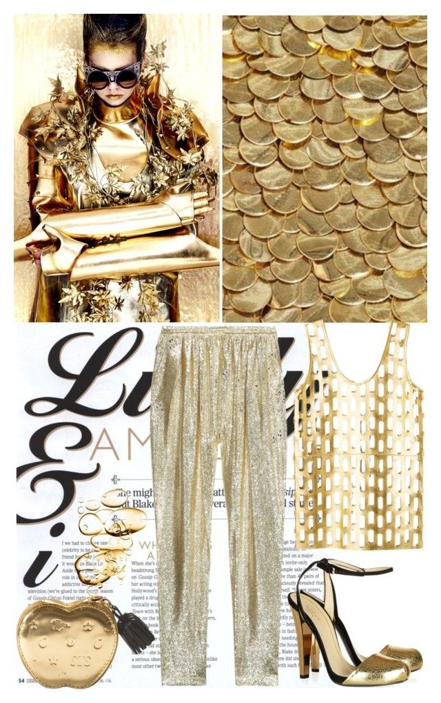 """Gold Digger"" by shaneeeee ❤ liked on Polyvore featuring STELLA McCARTNEY, women's clothing, women, female, woman, misses and juniors"
