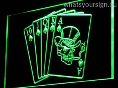Poker Cards Led Neon Sign Made Of The First Class Quality Clear Plastic And Glowing Colorful Lighting The Neon Sign Looks Exactly The Same From All Angles Th
