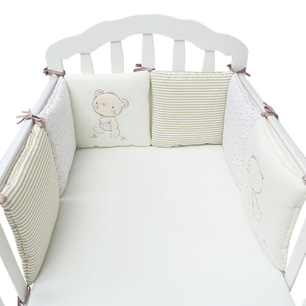 6pcs Baby Bed Bumper Crib Cot Baby Bed Protector Crib Bumper Newborns Toddler Bed Bedding Set Baby Bumper Baby Crib Bumpers Baby Bed