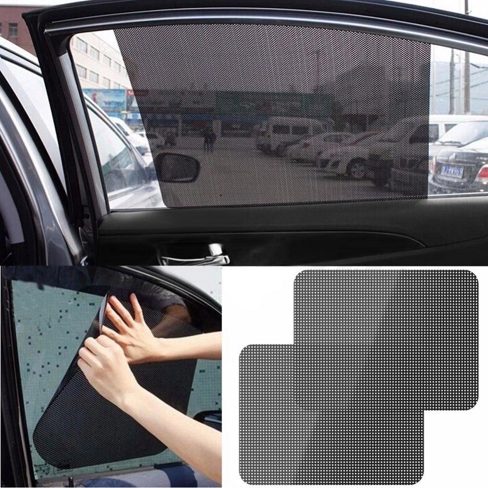 Auto Care 2pcs Black Side Car Sun Shades Rear Window