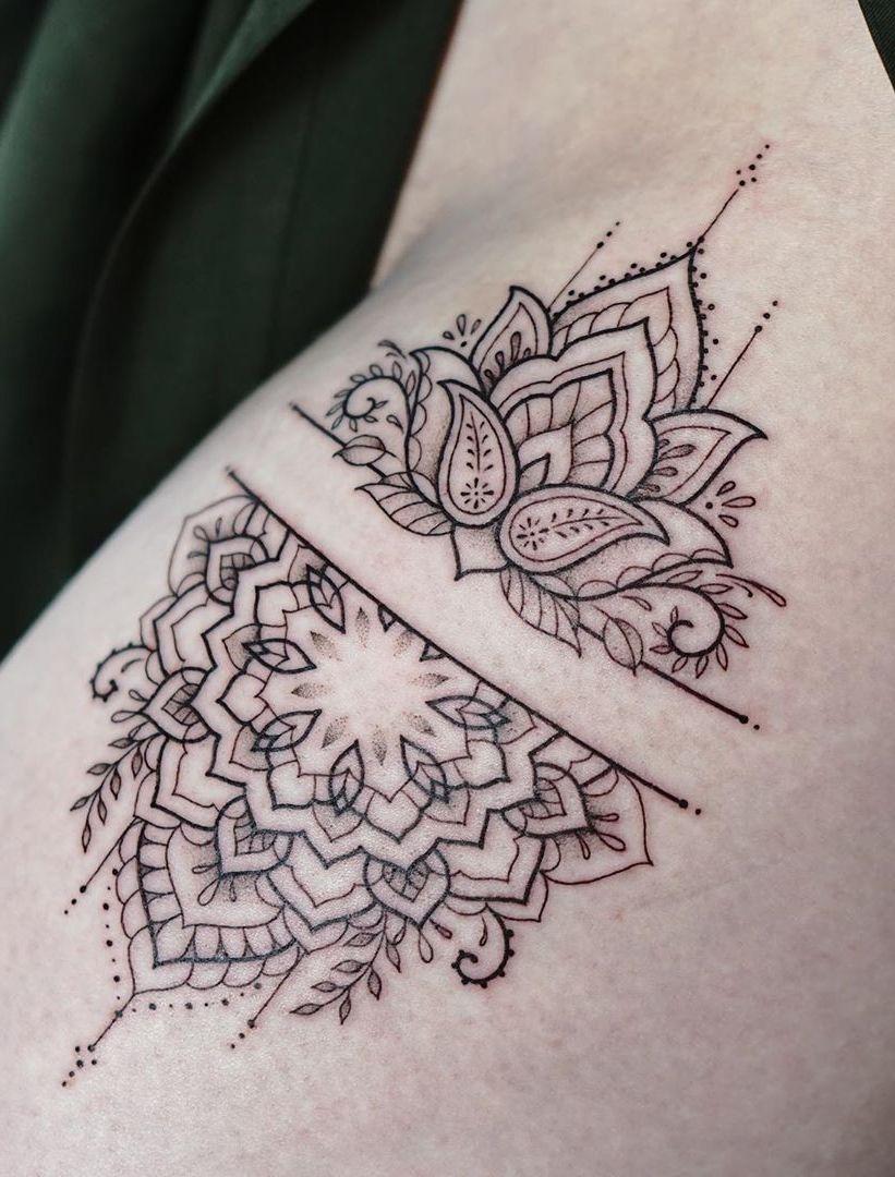 50 Of The Most Beautiful Mandala Tattoo Designs For Your Body Soul In 2020 Geometric Mandala Tattoo Simple Mandala Tattoo Henna Tattoo Designs Arm