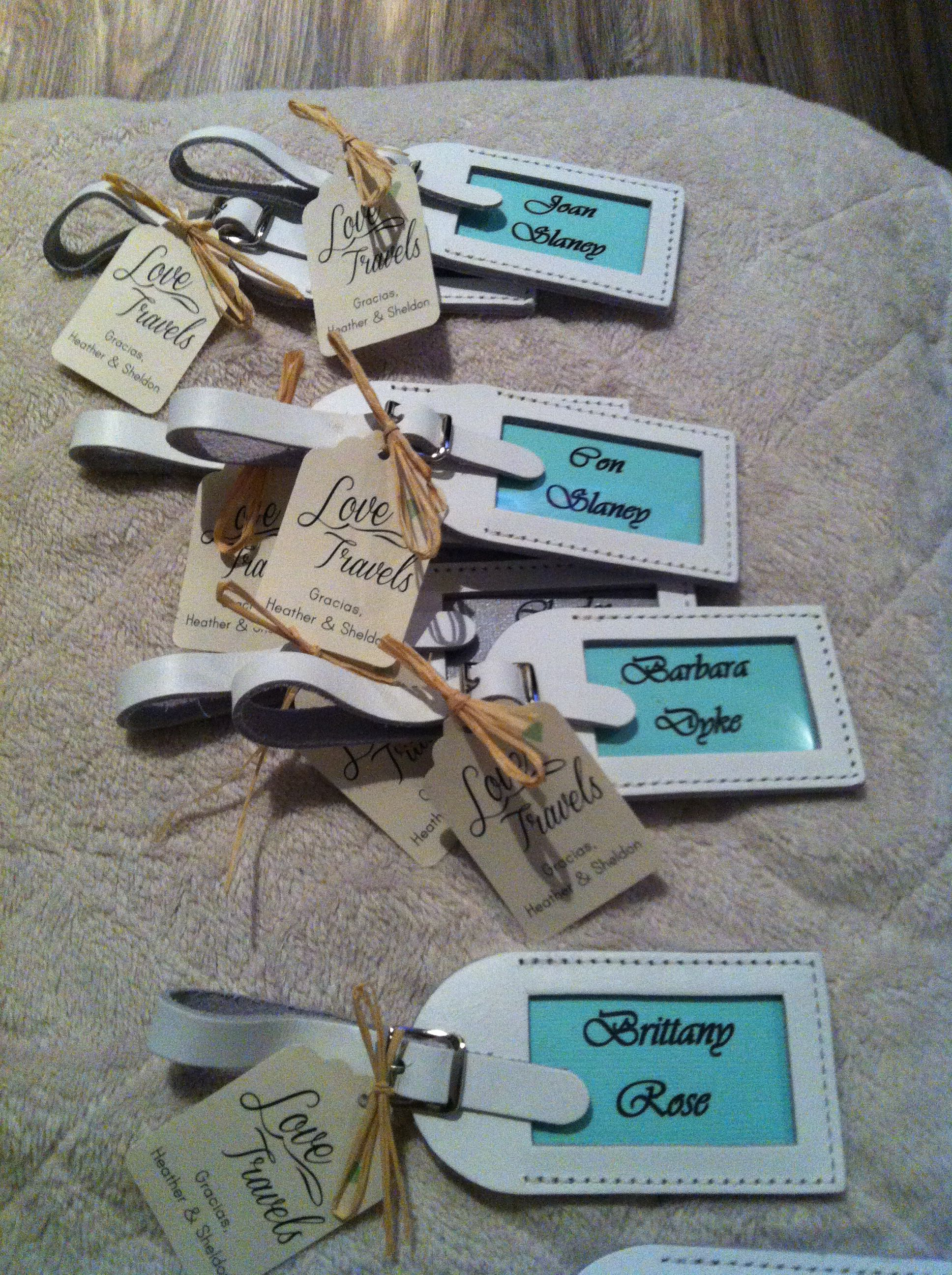 Wedding Favors For Destination Luggage Tags I Like What This One Says Love Travels Sailing Into Life With Date Tag Info Printed