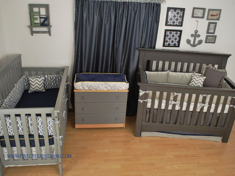 World map fabric with navy and grey custom crib bedding in a nursery world map fabric with navy and grey custom crib bedding in a nursery for twins gumiabroncs Gallery