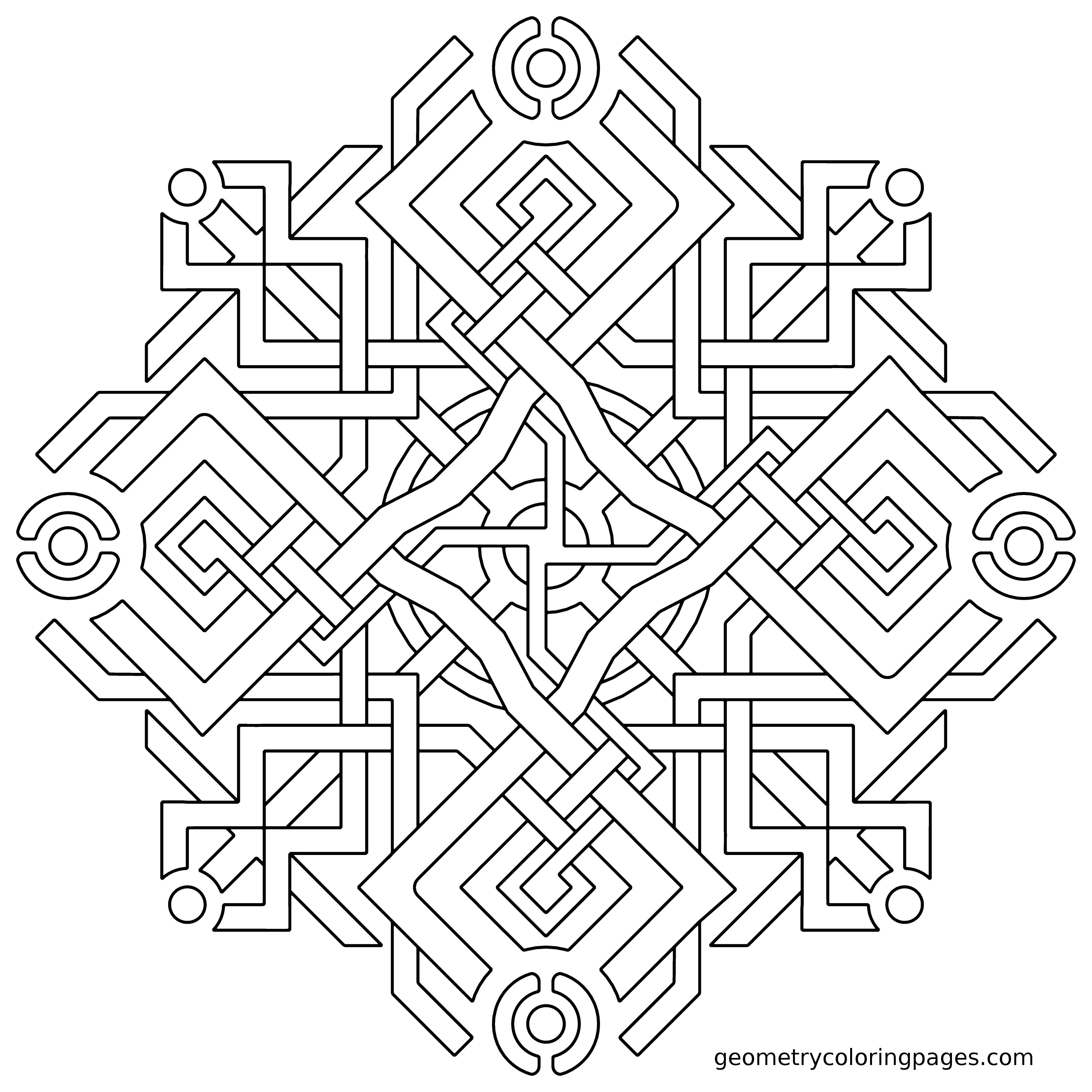 Coloring Page Fuzzy Logic From Geometrycoloringpages