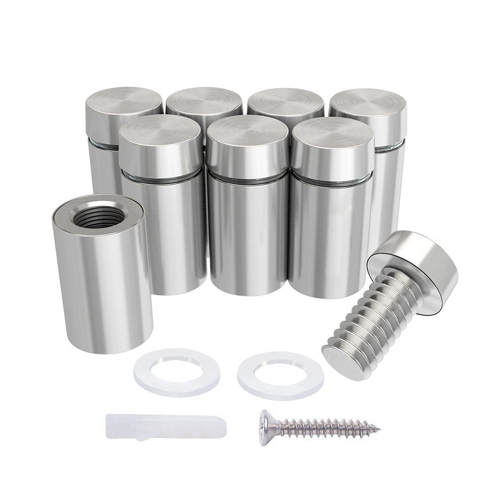 Luckin 20 Pack Sign Standoff Screws 1 2 X 4 5 In Acrylic Standoff Mounting Hardware Stainless Steel S Acrylic Picture Frames Stainless Steel Screws Stainless