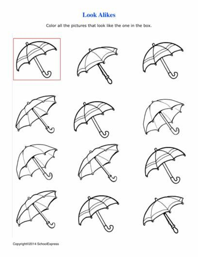 This activity uses visual perceptual skills to match the