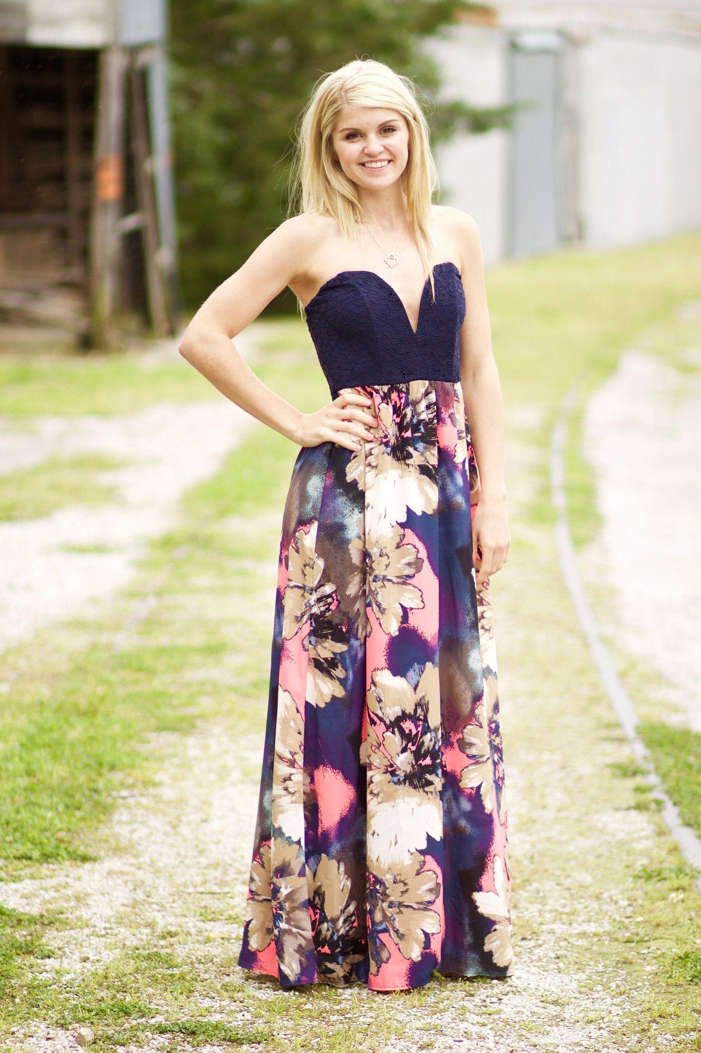Southern Sweetheart Maxi Dress Dresses Strapless Dress Formal Maxi Dress [ 2048 x 1365 Pixel ]
