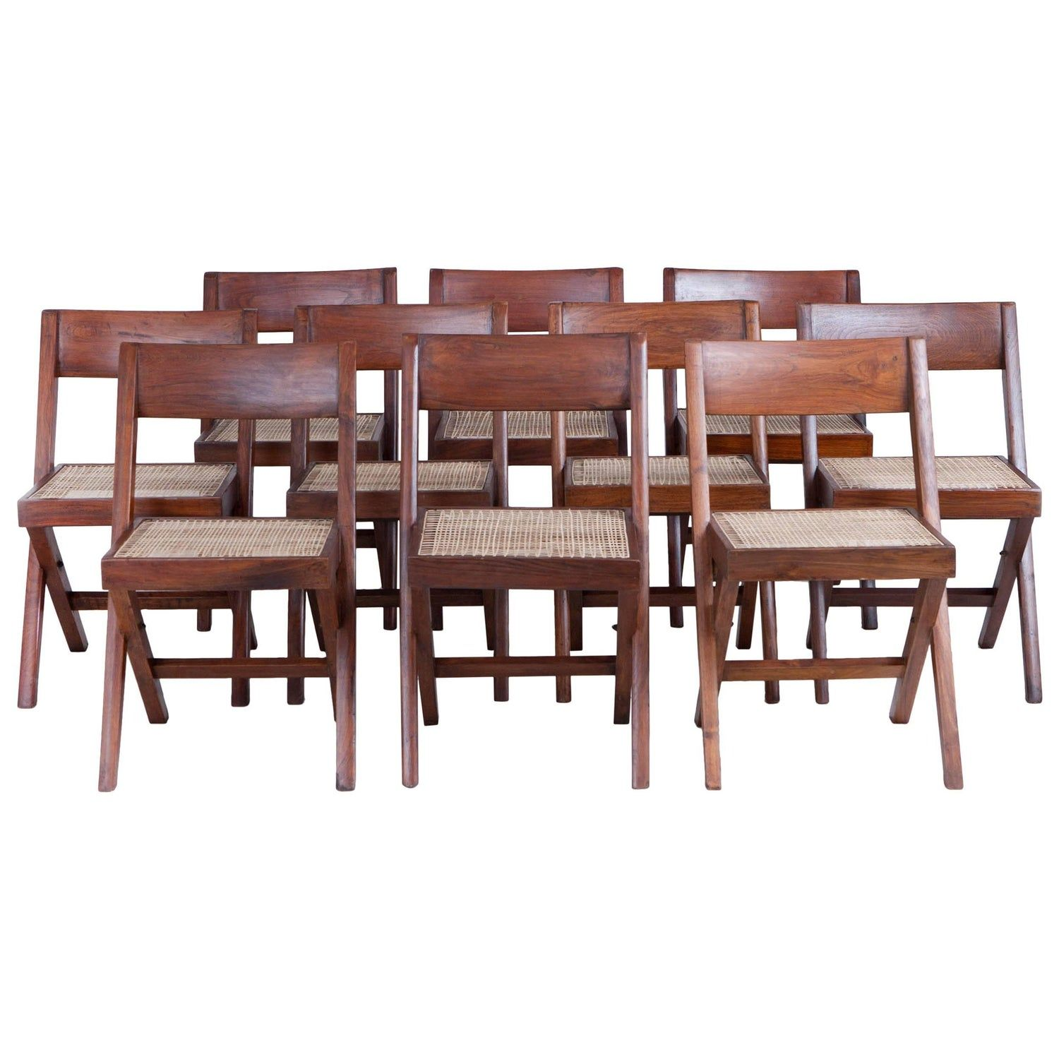 Pierre Jeanneret Library Dining Chairs 10 Available In 2020 Dining Chairs Dining Chairs For Sale Chair