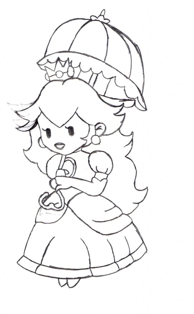 Free Princess Peach Coloring Pages