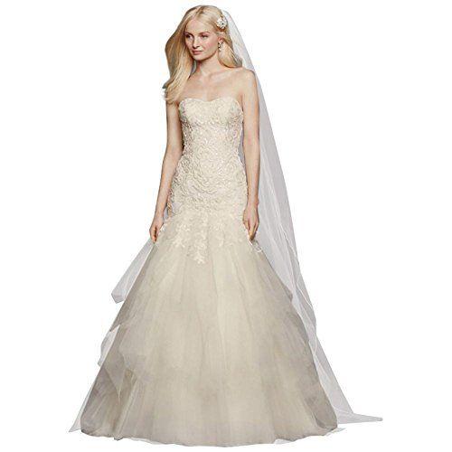 Davids Bridal Sample AsIs Strapless Mermaid Wedding Dress