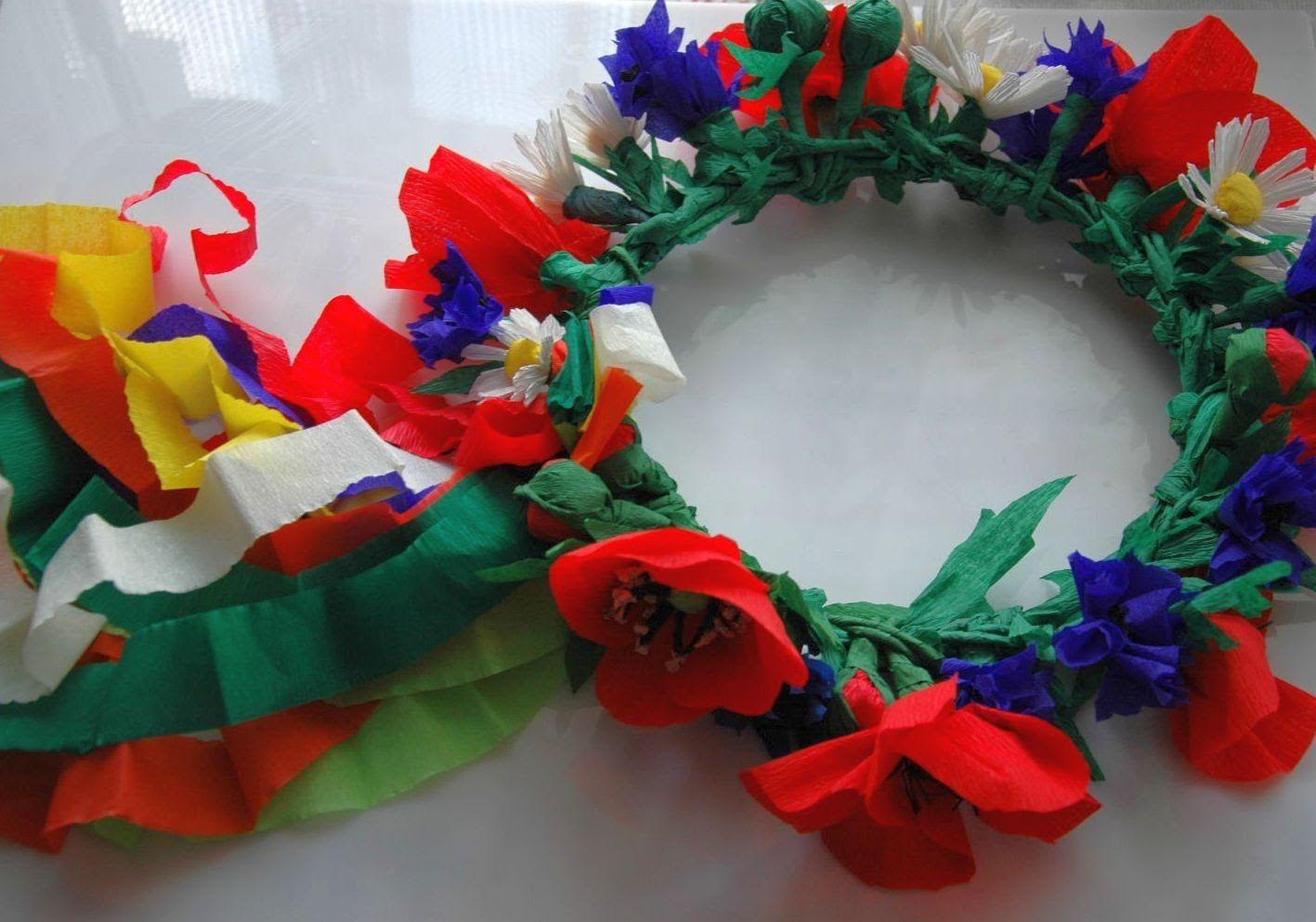 Wianek Z Kwiatow Na Glowe Flower Wreath Diy Arts And Crafts For Kids Crafts For Kids Crafts