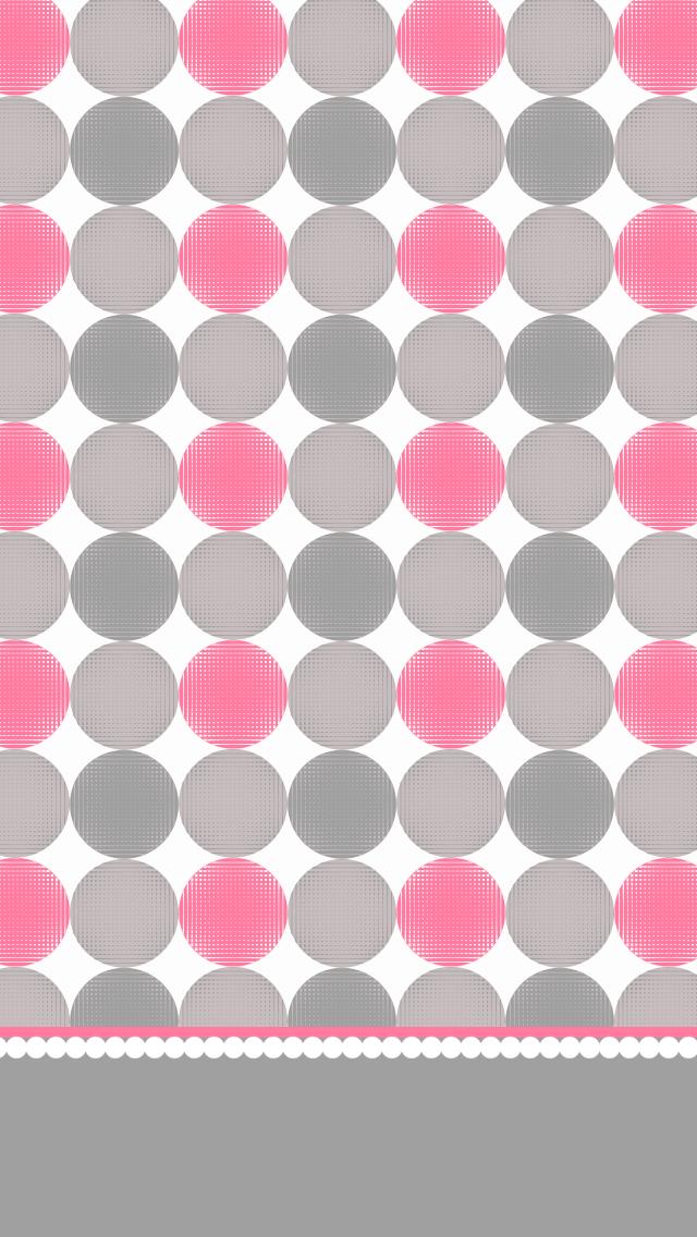 Pink Grey Polka Dots iPhone Wallpaper Pink wallpaper