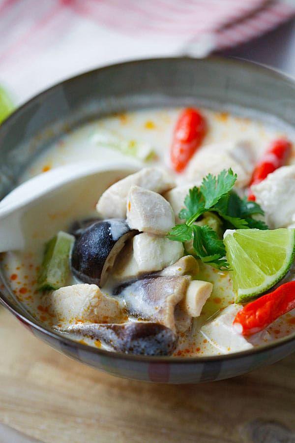 Tom Kha Gai Hai Best And Easiest Recipe For Thai Coconut Chicken