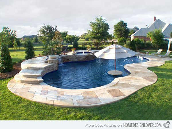 15 Remarkable Free Form Pool Designs Home Design Lover Swimming Pool Designs Pool Designs Small Backyard Pools