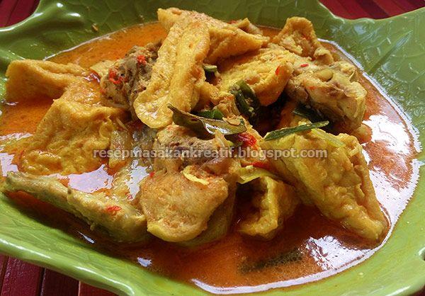 Sayur Tahu Santan Masakan Indonesia Resep Resep Masakan Indonesia