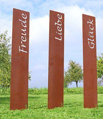 prima terra glück gartenstele edelrost stele dekoration, Garten ideen