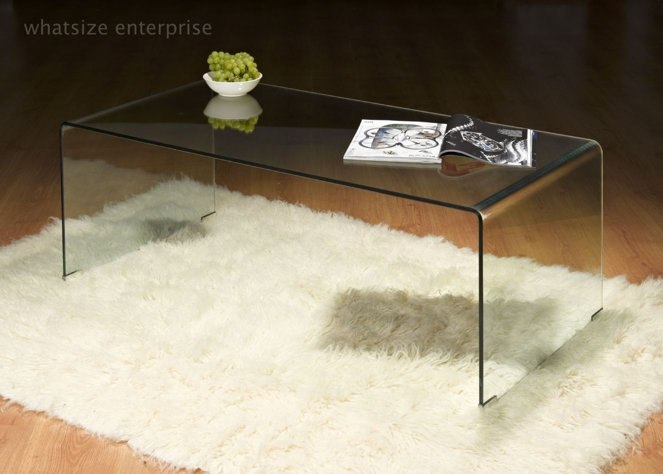Curved Glass Side Table Clear httpcielobautistacom Pinterest