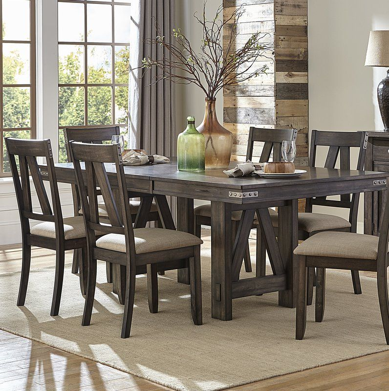 Elyssa Extendable Dining Table Rustic Dining Room Sets Rustic