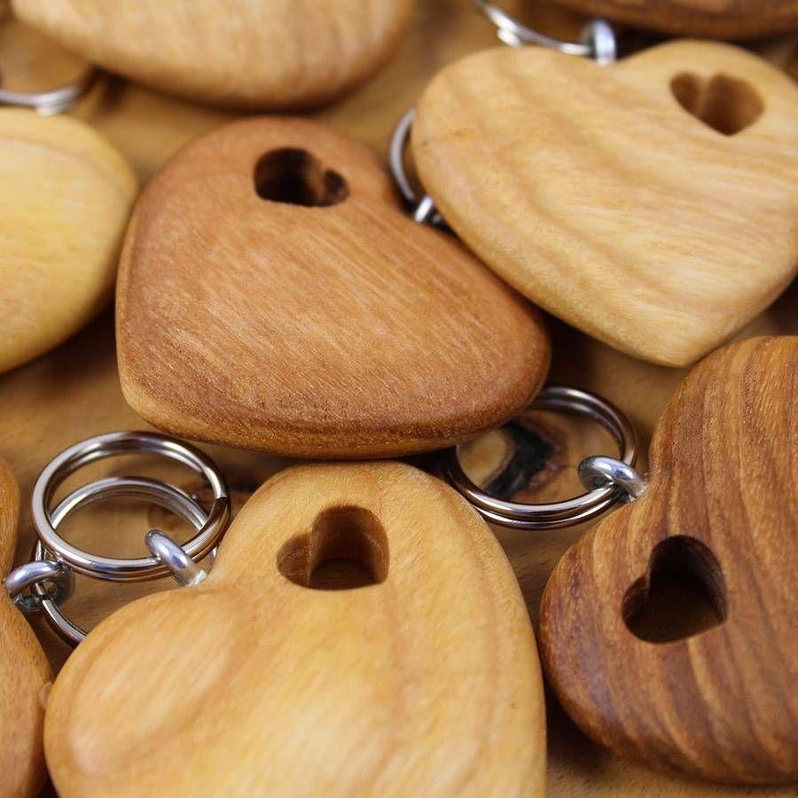 Handmade Wooden Heart Best Friends Keyring Wooden Hearts Wooden